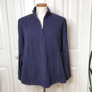 Eddie Bauer 1/4 zip cotton pullover, with pockets